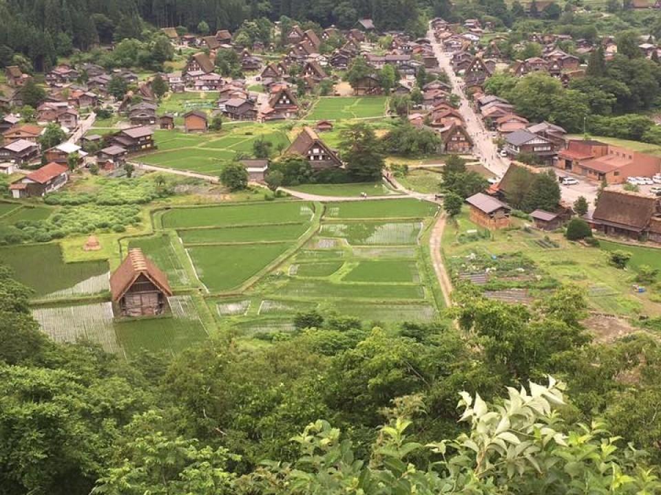 Historic village, Shirakawa-go(白川郷), where unique traditional farmhouses survive.