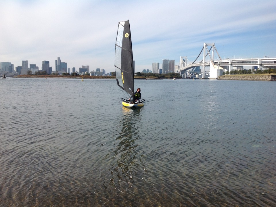 Trial sailing sessions with Tiwal