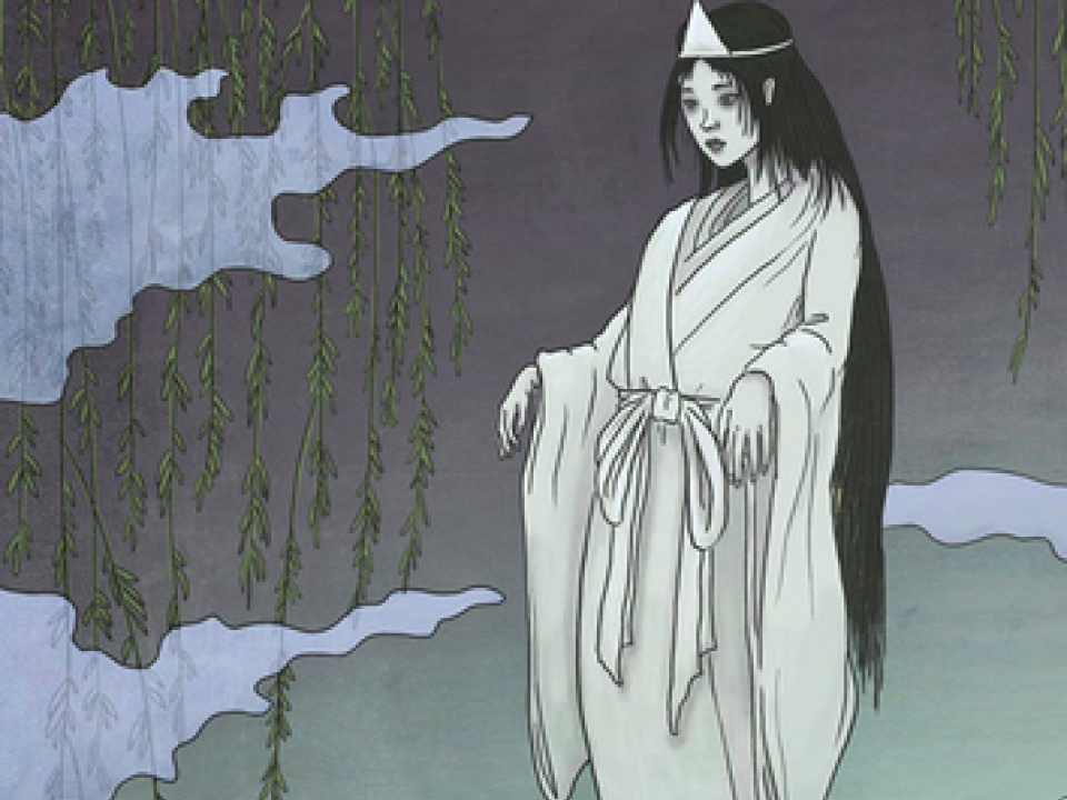 A typical representation of a yurei