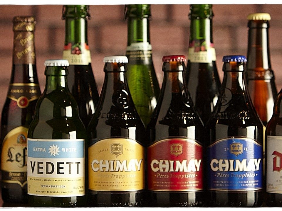 Belgian bottled beers from the web site