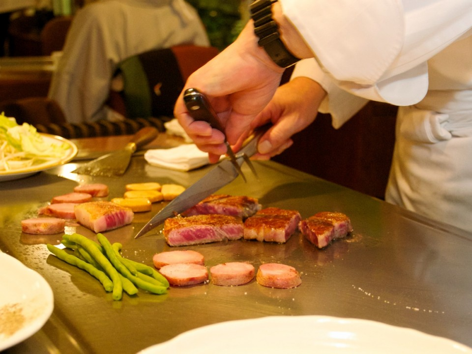 Teppanyaki steak prepared to perfection at Yamato