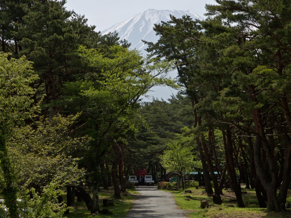 Camp area with Mt. Fuji in background