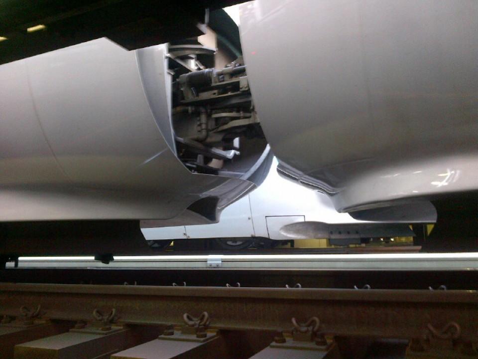 Under the Shinkansen