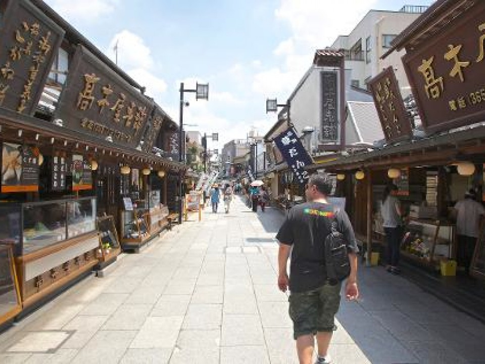 Walking the shotengai (shopping street)