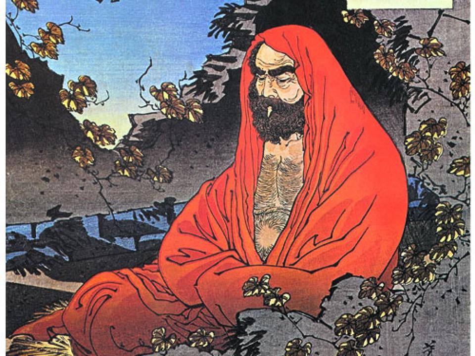 Meditating Bodhidharma Yoshitoshi