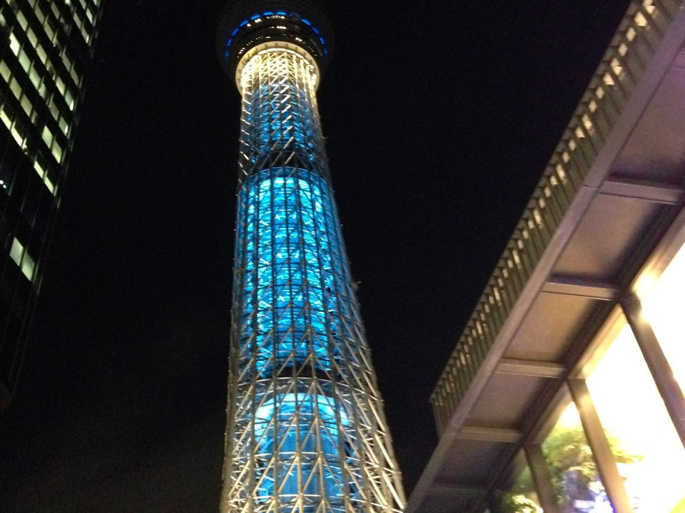 walk around Solamachi Skytree Town
