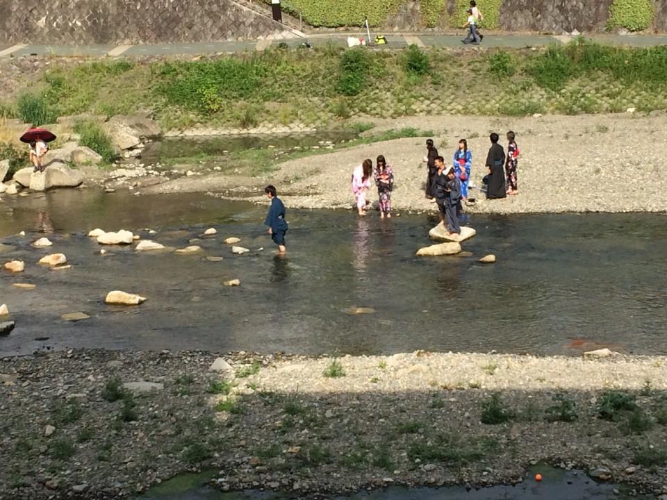 along Kamo river