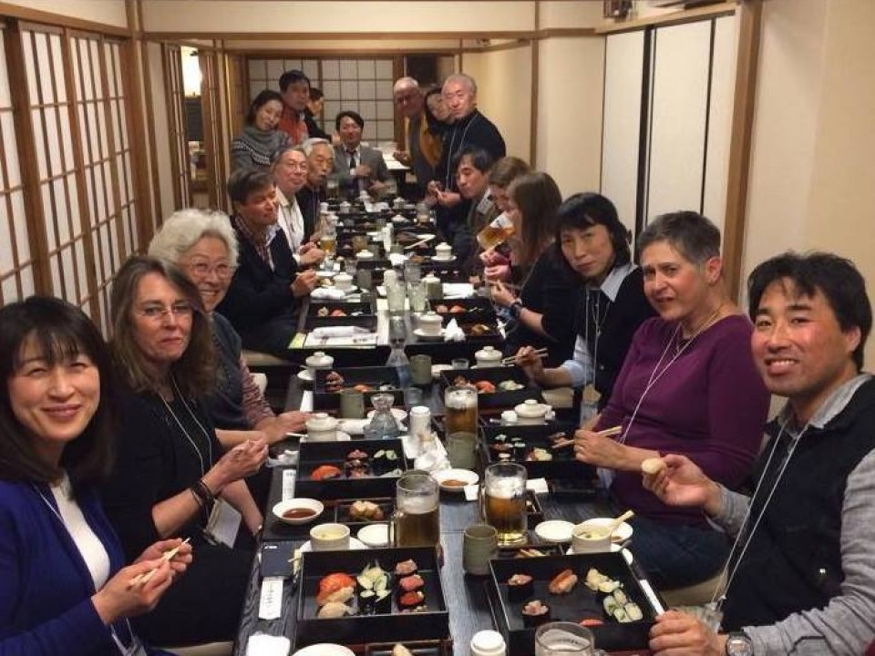 The sushi dinner of the last tour in March,2014.