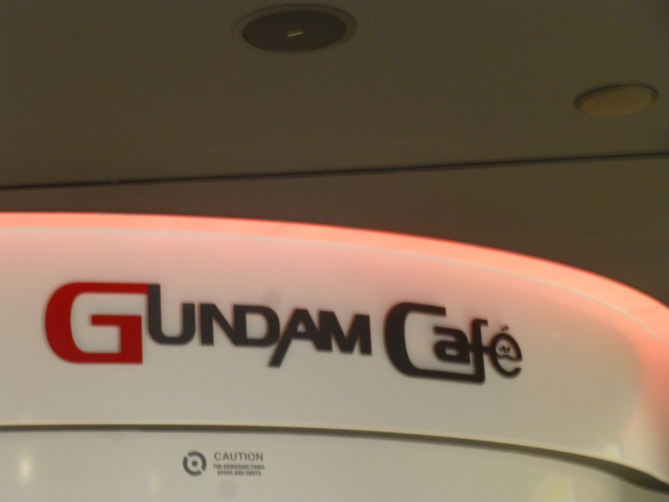 Gundam Café on the 2nd floor