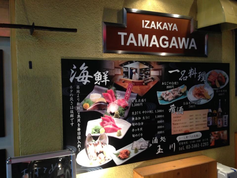 Tamagawa on Hyakkendana street