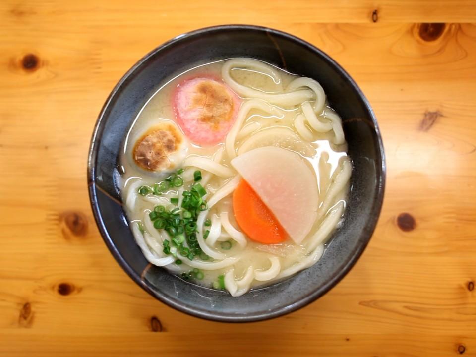 Sanuki udon - white miso zoni udon