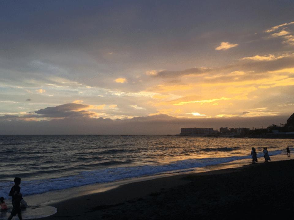 Sunset over Sagami Bay