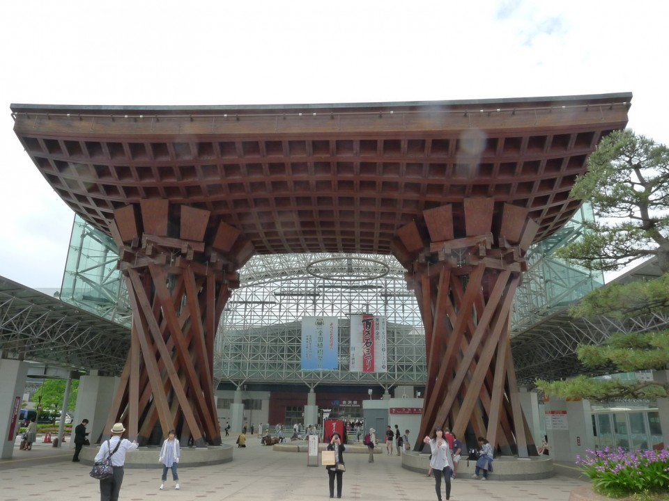"Kanazawa station is ranked in top 10 of ""most beautiful stations in the world""."