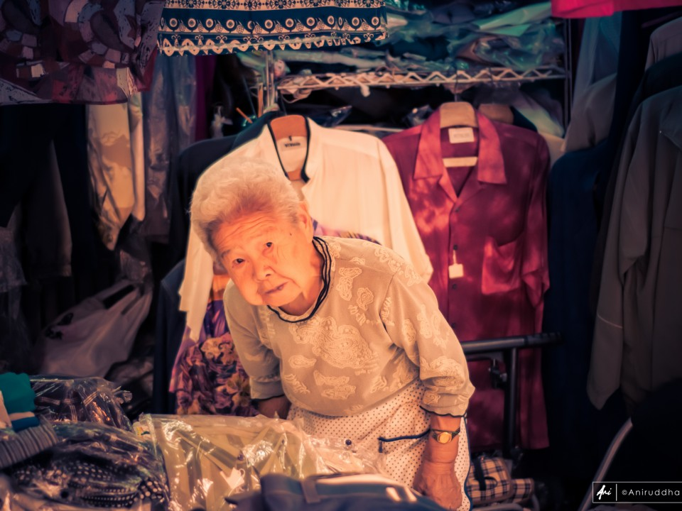 An old lady in her shop in Asakusa
