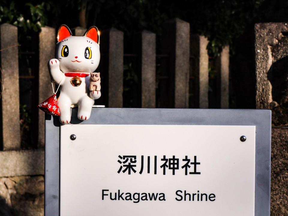 There are lucky cats throughout Seto city.