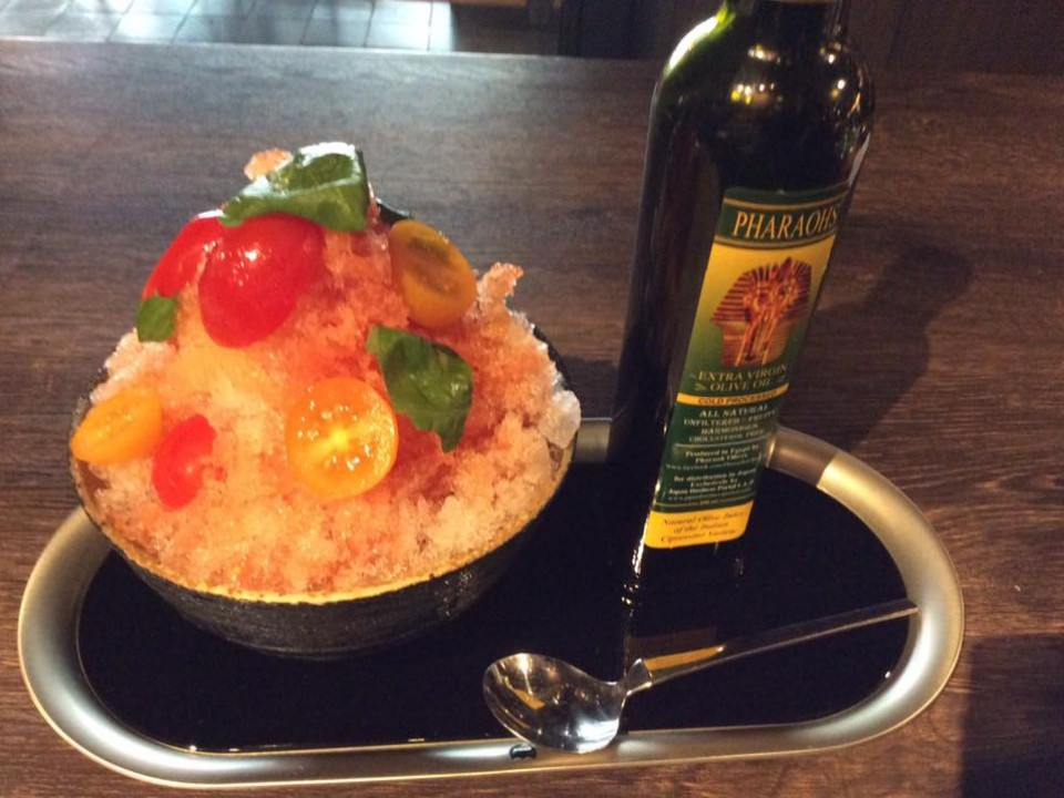 tomato-basil kakigōri