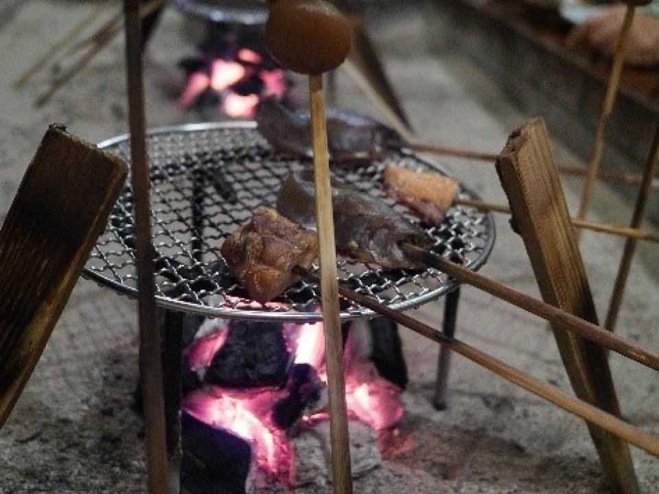 Irori style open hearth dining