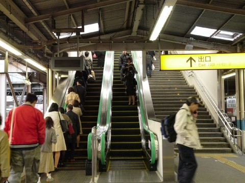 Left hand side in Tokyo and Nagoya & Right hand side in Kyoto and Osaka when you are taking escalators. images