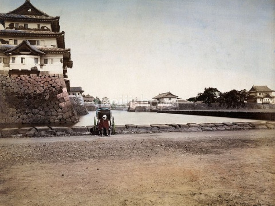 A cool shot of the Imperial Palace in the 1860's from MeijiShowa