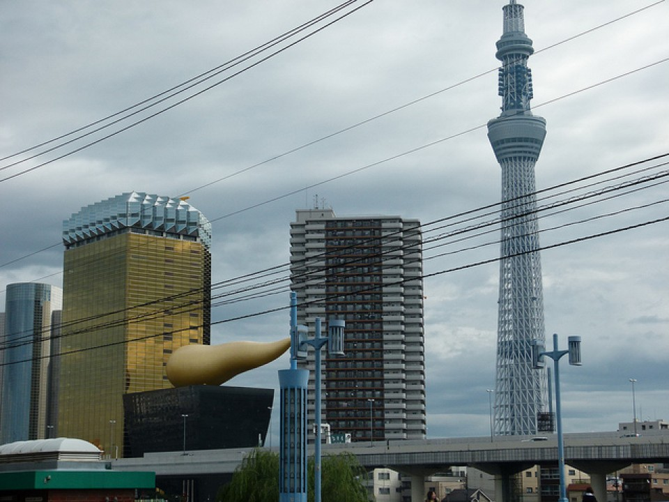 giant golden turd and tower