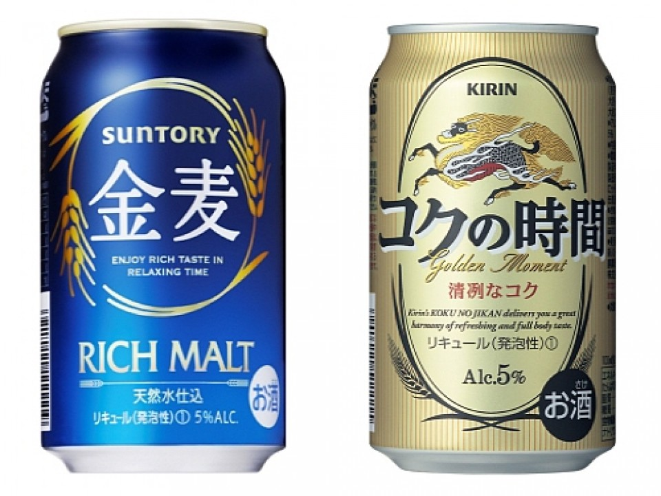 Happoshu from popular beer makers, Suntory and Kirin