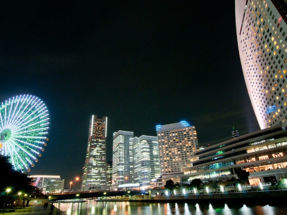 Night view of Yokohama