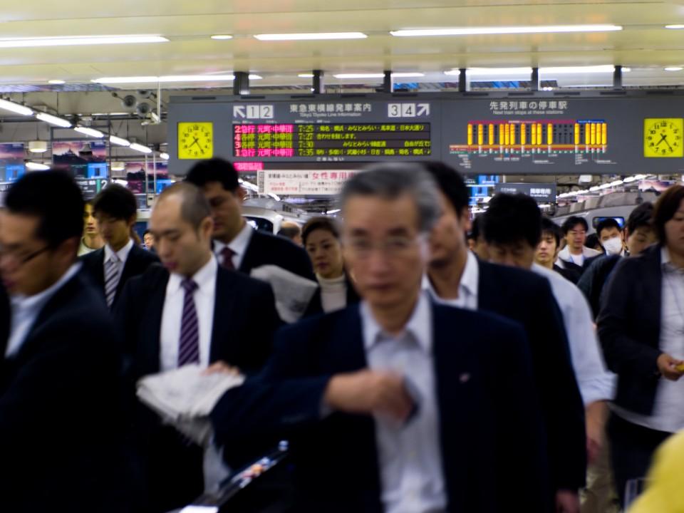 Rush Hour at Shibuya Station