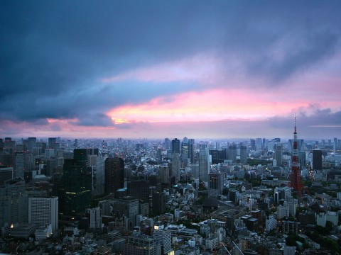 Beautiful View from the Roppongi Hills Observatory, Tokyo Japan images