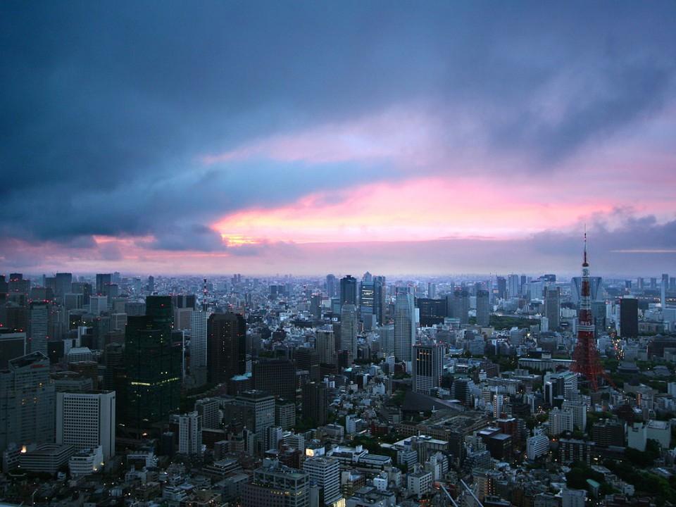 Tokyo Sunrise from Roppongi Hills Observatory