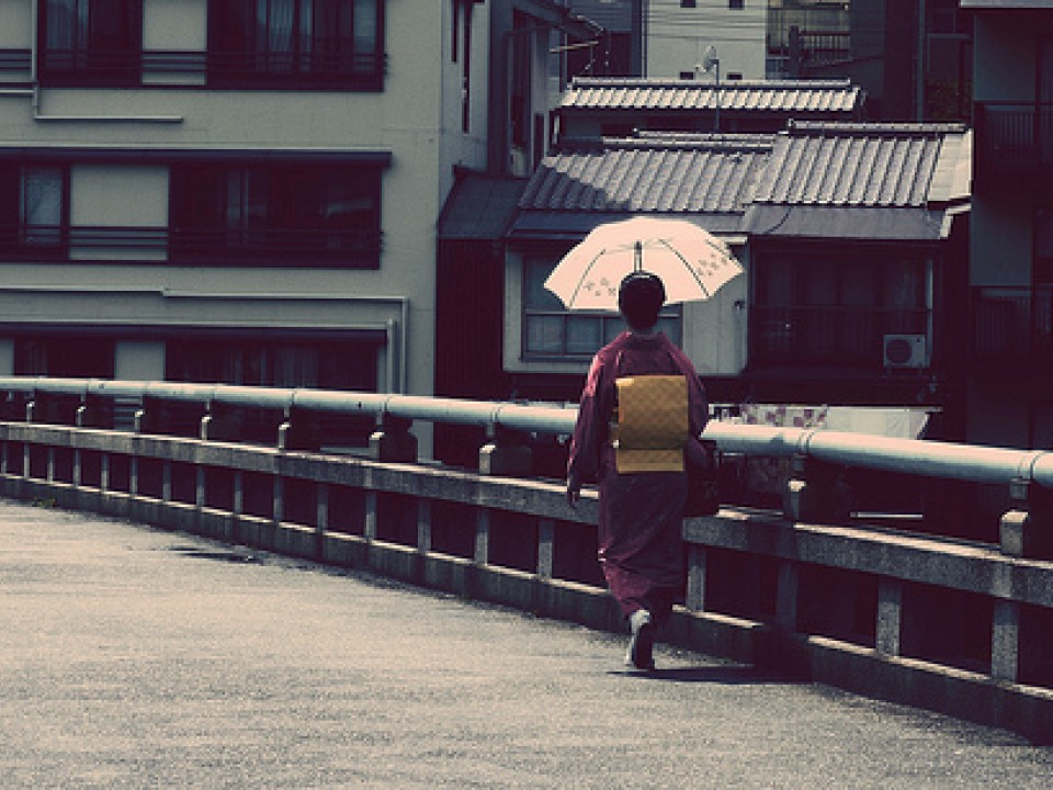 Sun Umbrella protecting a maiko
