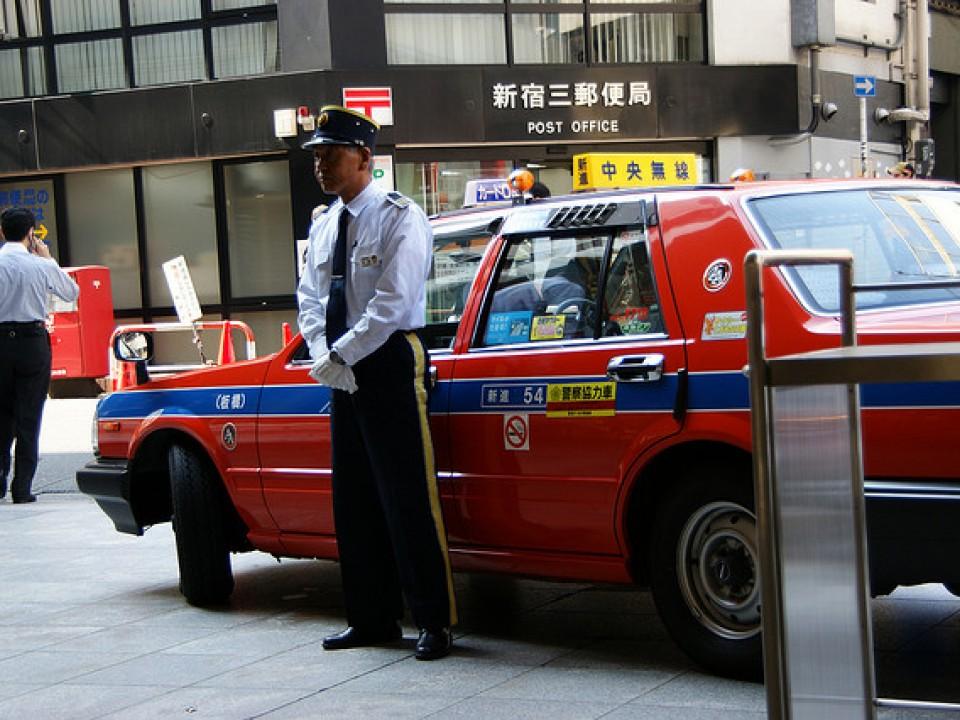 A Japanese taxi