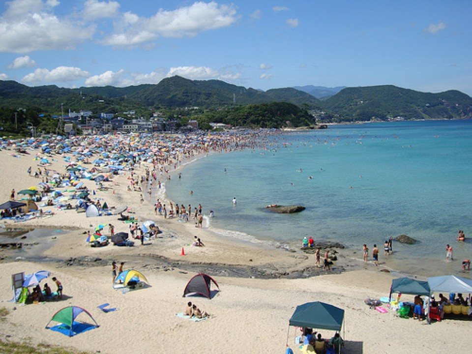 The clean shores on Shimoda beach