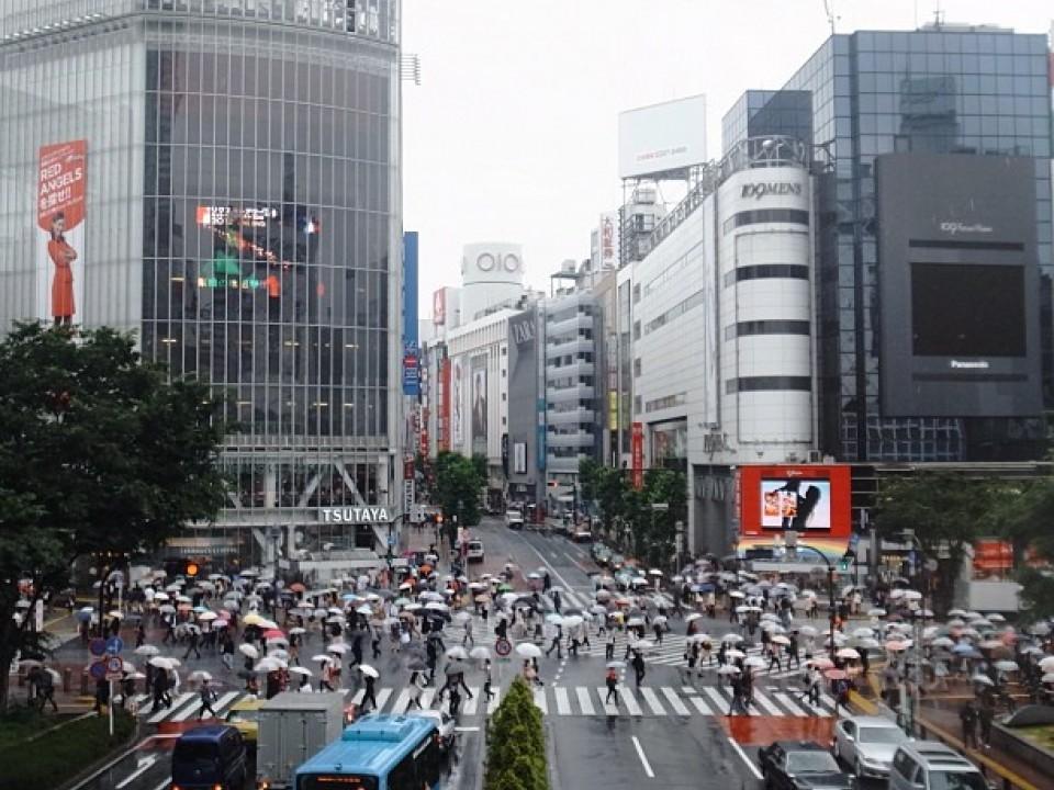 A Rainy Day in Shibuya