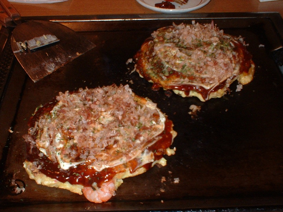 This is what an okonomiyaki looks like!