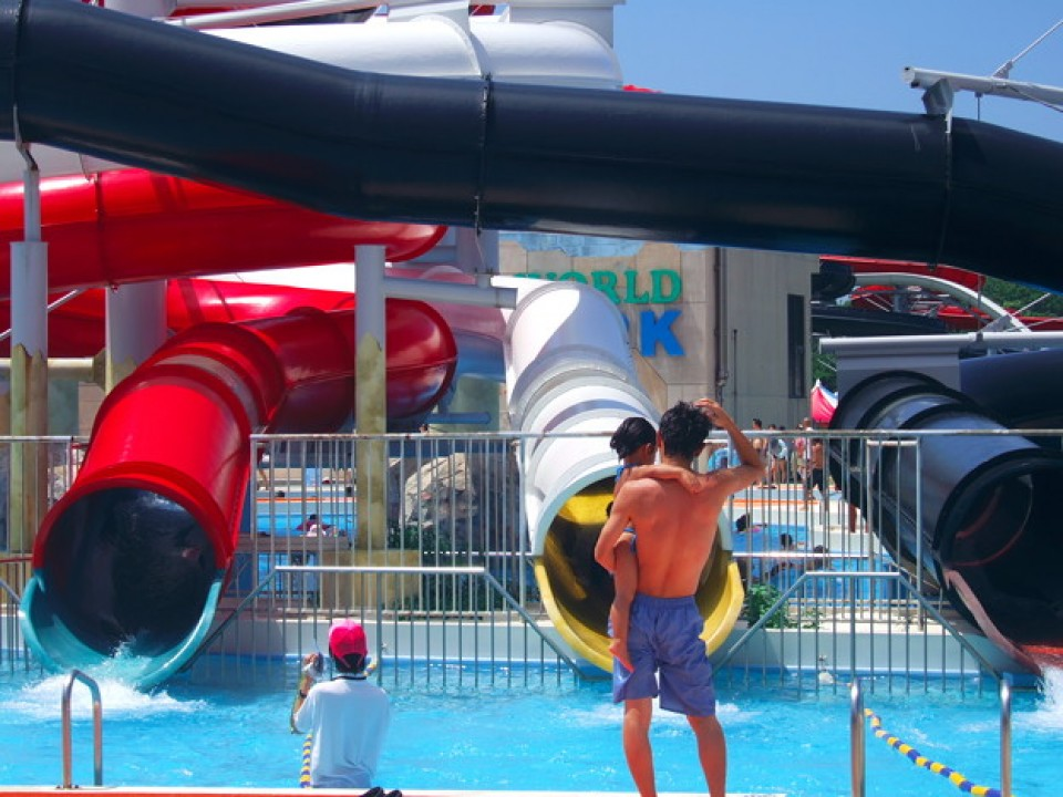 A Typical Water Slide