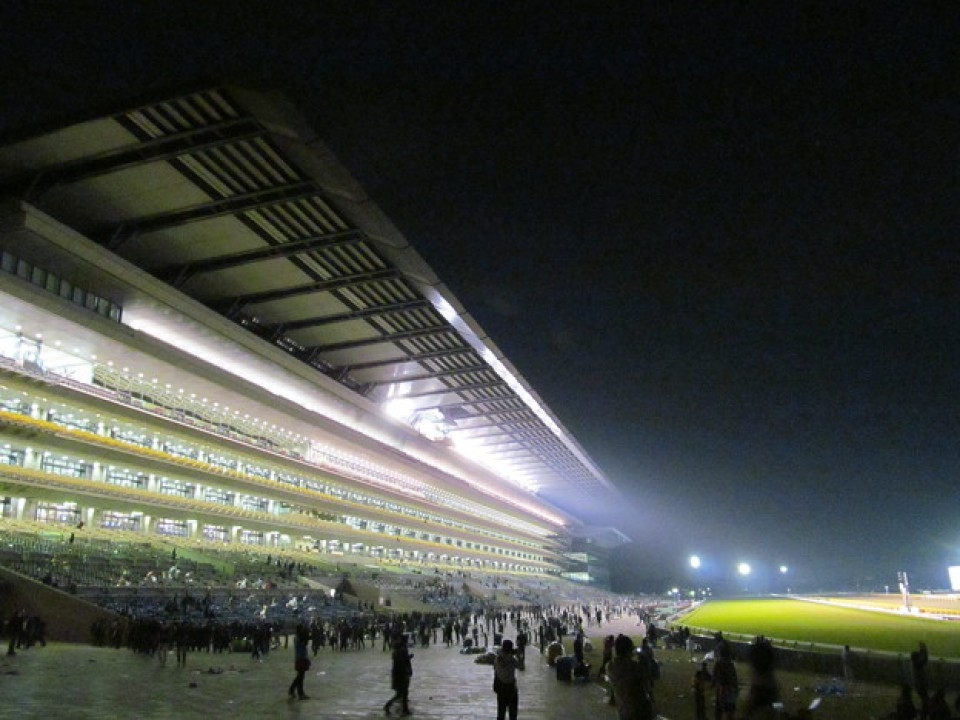 Night races tend to bring out the largest crowds