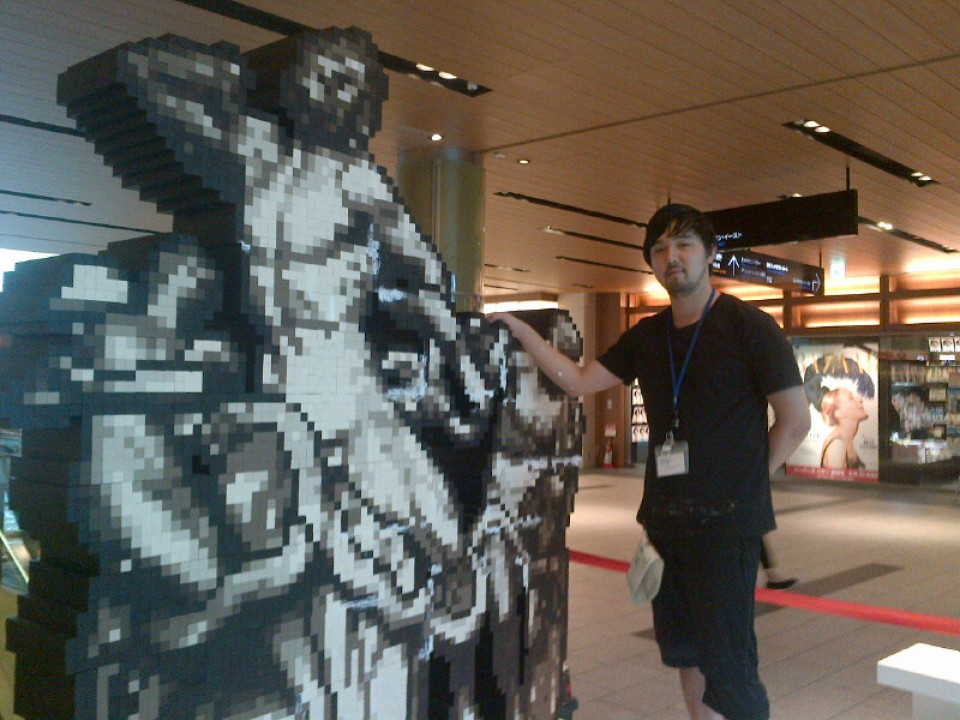 This is an amazing mosaic art design displayed in Midtown by Ichitaro Suzuki