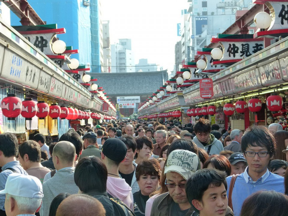 Asakusa is so completely crowded, but interesting (go early)