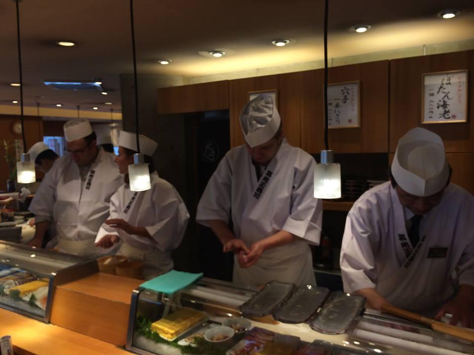 Doing the nigiri Sushi 'tap'