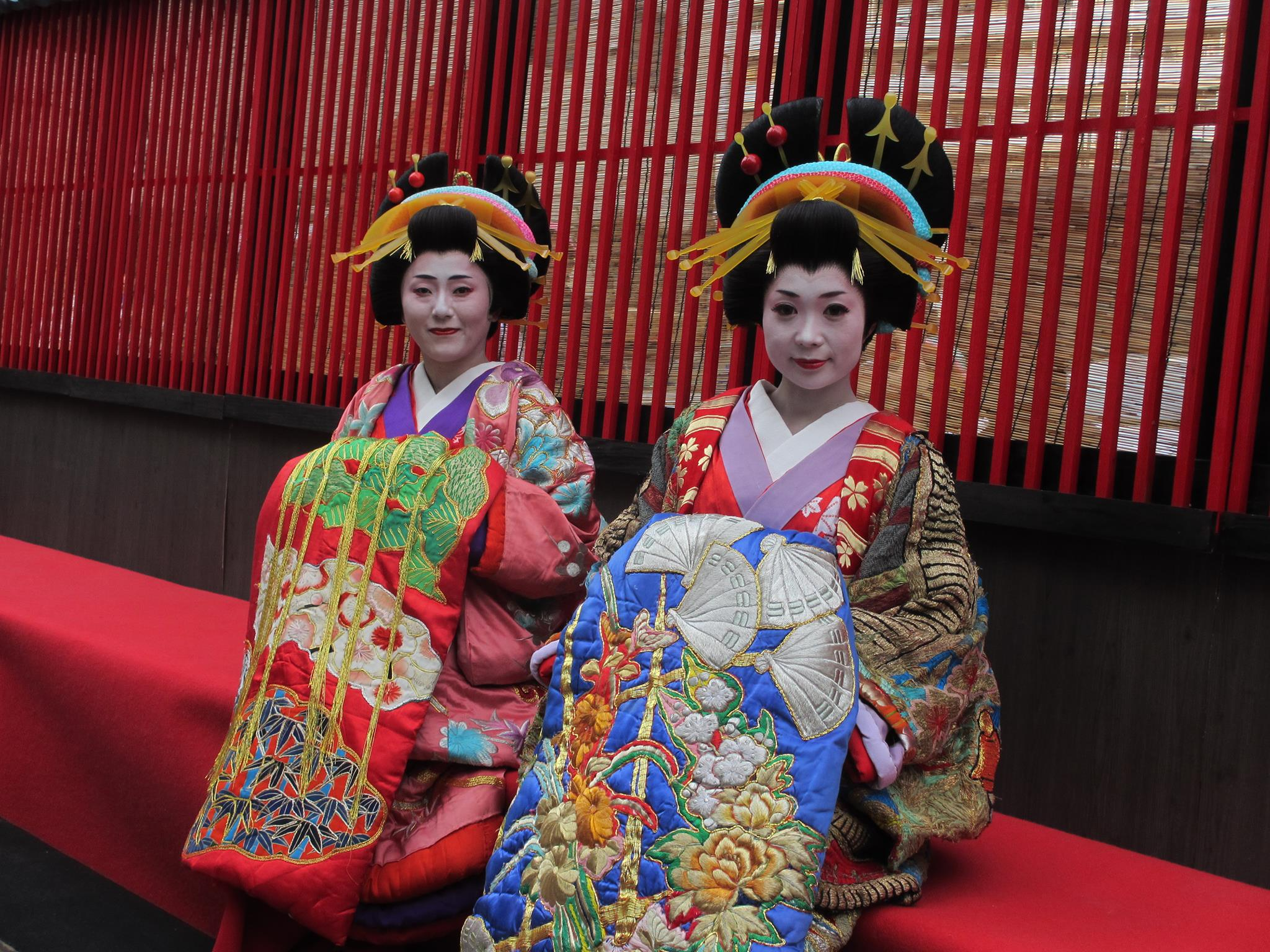 Oiran Parade The Screamingly Bright Colors Deepjapan